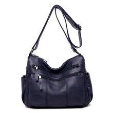 High Quality Women Leather Handbag Sling Shoulder Messenger Satchel Crossbody Ladies Tote Bag Purse стоимость