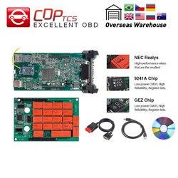 CDP tcs CDP PRO plus czytnik kodów OBD2 V3.0 NEC przekaźnik 2016 oprogramowanie Multidiag pro + samochody/ciężarówka OBDII auto narzędzie diagnostyczne cdp tcs obd2 diagnosticcdp plus -