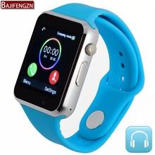 Bluetooth smart watch para el teléfono android soporte sim/tarjeta sd hombres mujeres deporte para huawei xiao mi correa de silicona pk dz09 gt08 a1