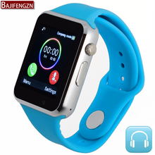 bluetooth smart watch for android phone support SIM/SD card men women sport for huawei xiao mi Silicone strap pk DZ09 GT08 A1