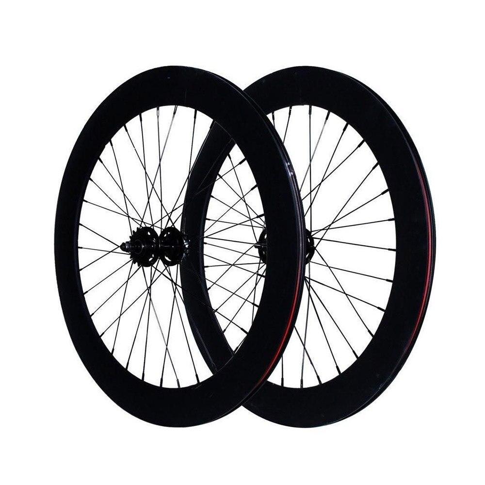 Vélo à pignon fixe roues 70mm jante en alliage d'aluminium roues à bascule jante de vélo de route fixie roues de vélo de piste