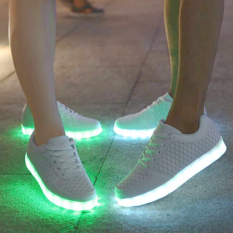 Zapatillas Colores Hombres De Luminosos Deporte Zapatos 8 Led dtqSS