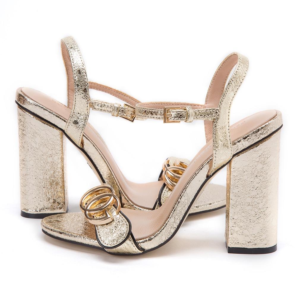 Frauen 5 Schuhe Gold High Dekoration Heels Matal 2019 Weibliche BraunGoldRotSilberWei 10 Cm Party Damen Hochzeit Sandalen Sommer FK13cJlT