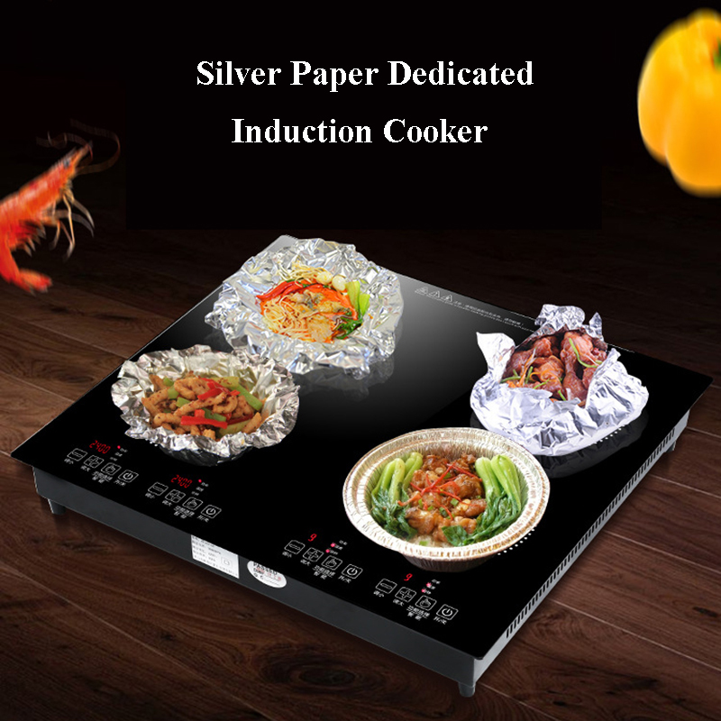 Commercial Electric Induction Cooker Multi eye Induction Cooker Ceramic Stove Long Four head Stone Pot Tin Foil Cooking WK 3000 in Induction Cookers from Home Appliances