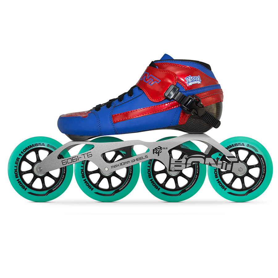 100% Orijinal Bont Pursuit 2PT Hızlı tek sıra tekerlekli paten Heatmoldable Karbon Fiber Boot 4*90/100/110mm Highroller Tekerlek paten Patines