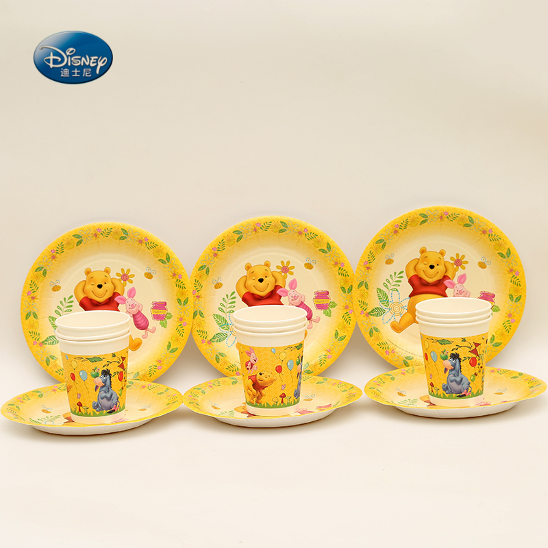 Disney Party Supplies Winnie the Pooh Theme Birthday Party Decoration Tableware set plate+cup Valentines  sc 1 st  AliExpress.com & Wholesale 95pcs Disney Pooh Bear Party Supplies Tableware Set Winnie ...