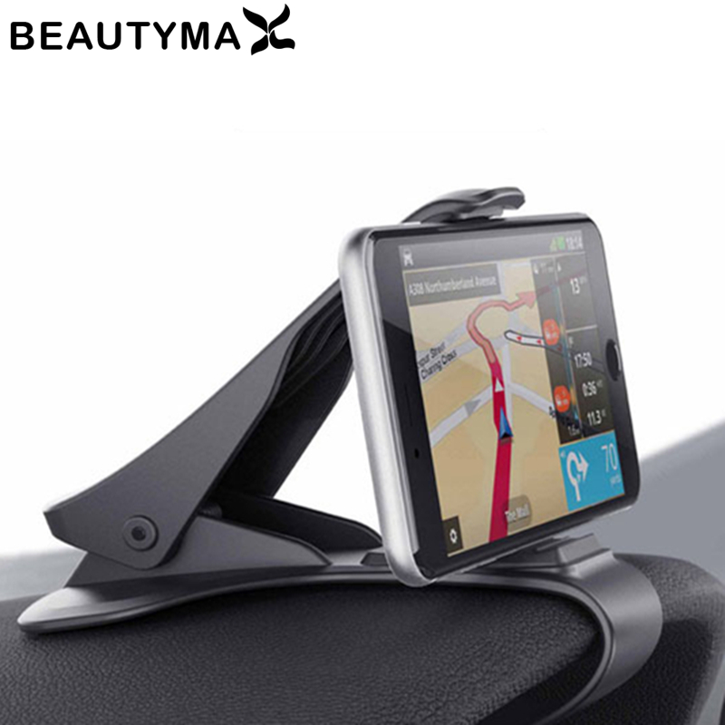 Phone Holder For Car Dashboard | 6.5inch Dashboard Car Phone Holder Easy Clip Mount Stand Car Phone Holder GPS Display Bracket Classic Black Car Holder Support