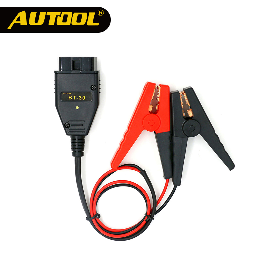 AUTOOL BT30 Car OBD2 ECU Connector Battery Saver Auto ECU Memory Savers Automotive OBD 2 Emergency Electrical Plug Car Fuel Save