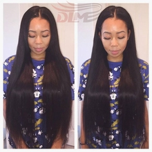 7A Natural Looking Light Straight Full Lace Human Hair Wigs 100% Real Human Hair Thick Lace Front Wig With pre plucked Baby Hair