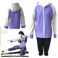 Adult naruto Hyuga Hinata cosplay costumes anime clothes for girls jacket Sportswear Halloween costume for women