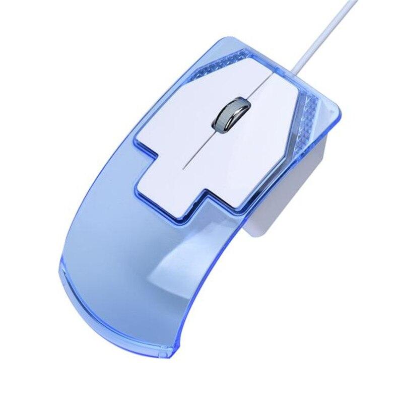 Гибкая Мыши компьютерные 3 кнопки LED Проводная оптическая игровой Мыши компьютерные Мышь A8 ...
