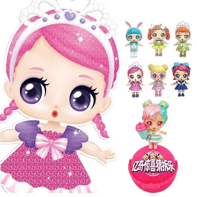 Moda DIY Bonecas Crianças Brinquedos Princesa Boneca Lol lol EKI Surpresa bola com Caixa de Presente do bebê Brinquedos para As Crianças Meninas bonecas de Presente