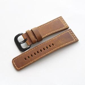 Image 2 - MERJUST Handmade 28mm Thick Black Brown Gray Calf Genuine Leather Wrist Watch Band For  Seven Friday Strap Belt Bracelet