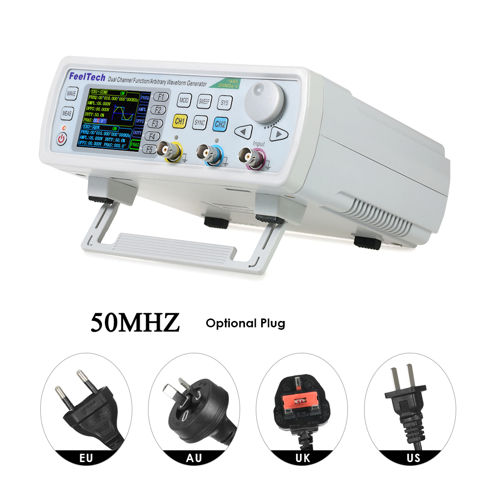 KKmoon FY6600-50M FY6600 Series 50MHZ Digital Control Dual-channel DDS Function Signal Generator frequency meter Arbitrary