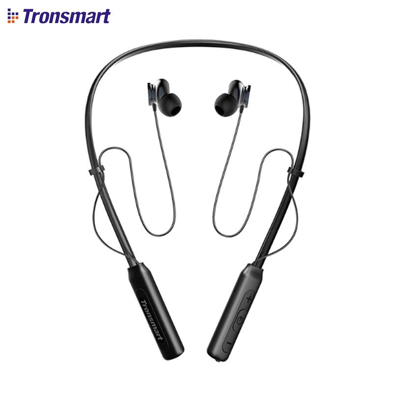 Tronsmart Encore S2 Bluetooth Sans Fil Écouteurs DSP IPX34 Étanche Sonore Supérieure Casque pour les Jeux Sport Neckband Casque