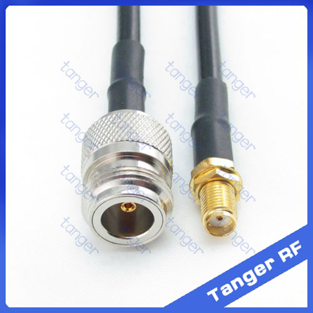 Hot sale Tanger N female jack to SMA female jack straight RF RG58 Pigtail Jumper Coaxial Cable 20inch 50cm High Quality корпус atx corsair obsidian series 250d без бп черный cc 9011047 ww