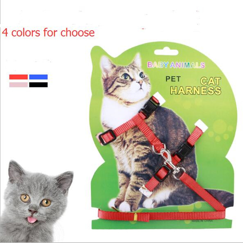 Nylon Pet Cat Harness And Leash Products For Cat Vest Adjustable Comfort Soft Pet Harness Pets Belt Accessories For Cat Collar