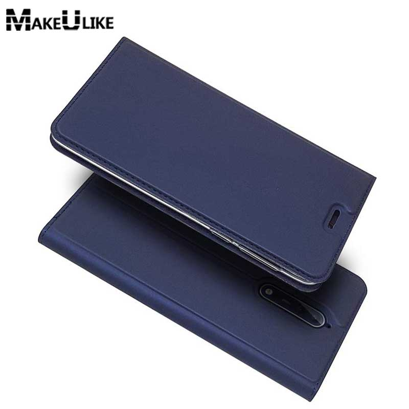 MAKEULIKE Slim Magnetic Case For Nokia 8 Flip Cover PU Leather Mobile Phone Bags Cases For Nokia 8 Nokia8