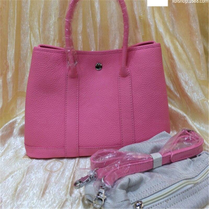 B0207 Top Quality Women Original Togo Leather Handbags Luxury Women Bags Bolsa Feminina Designer Garden Party Bag Brand