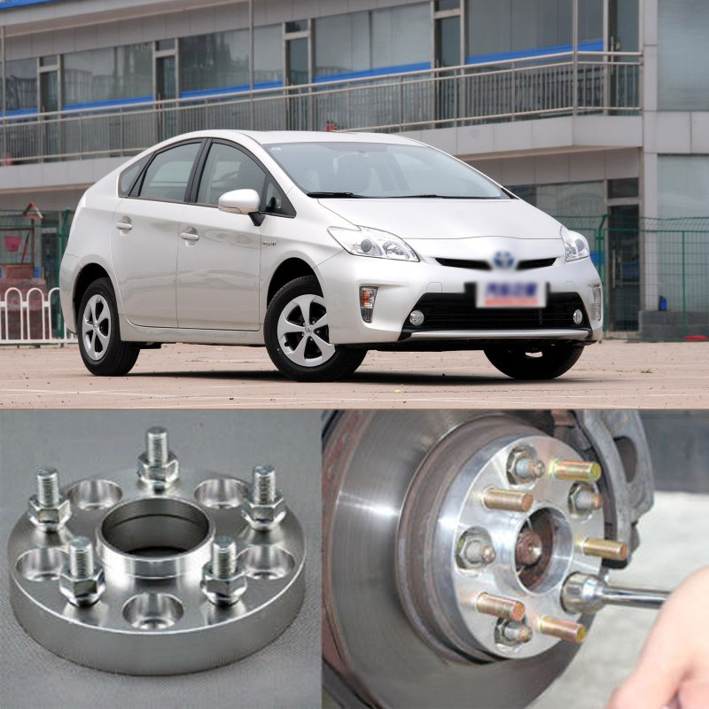 Teeze 4pcs Billet 5 Lug 12*1.5 Studs Wheel Spacers Adapters For Toyota Prius 2005+