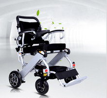 Taken on airplane durable folding electric wheelchair for disabled and elderly