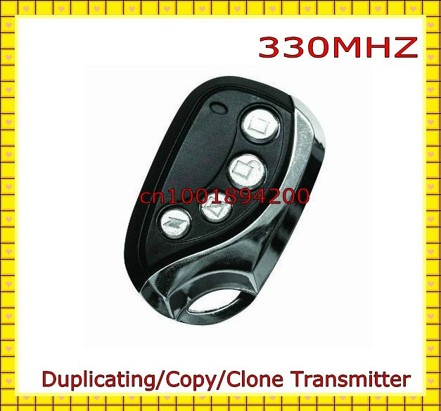 330MHZ Duplicator Clone/Copy Remote Control Duplicating Transmitter Garage Door Electric Control Lock Opener