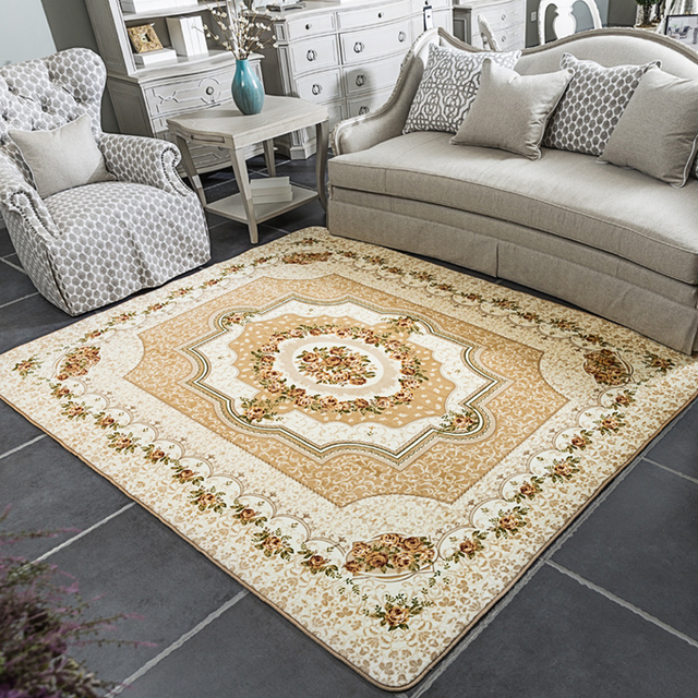 Honlaker 185x185 cm Platz Europäischen Rose Teppich Wohnzimmer Tisch ...