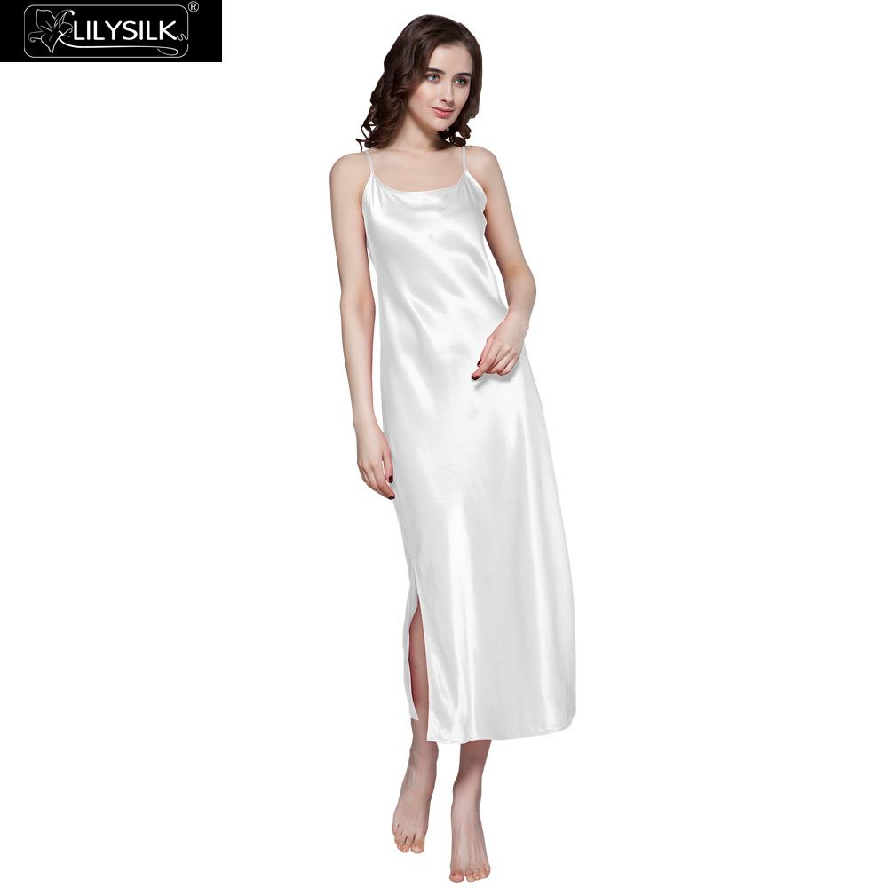 9051d4dc69c LilySilk Nightgown Sleepwear Women Pure 100 Silk 22 momme Long Sexy Luxury  Natural Wedding Dress Clothing Free Shipping