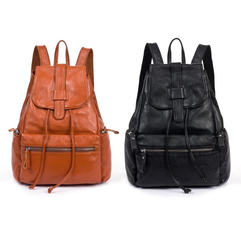 a4289bf6b9a5 NoEnName_Null Высокое качество кожаный рюкзак женский натуральная кожа  рюкзак рюкзак-кошелек сумка Школьный ранец