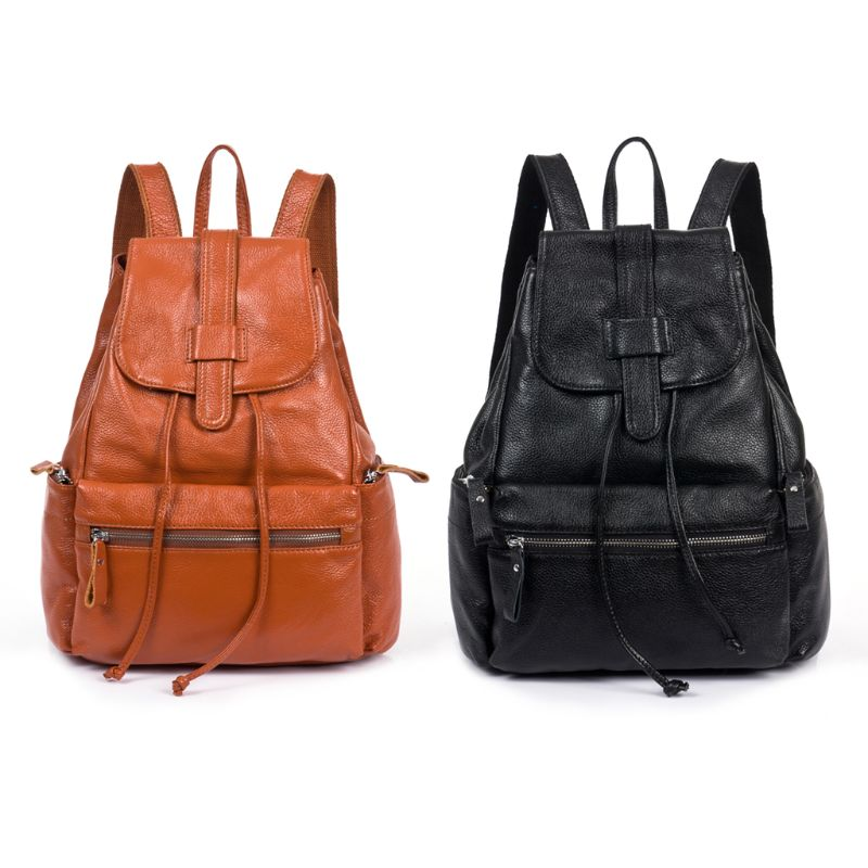 NoEnName_Null sac à dos en cuir de haute qualité pour femme sac à dos en cuir véritable sac à dos sac à main cartable