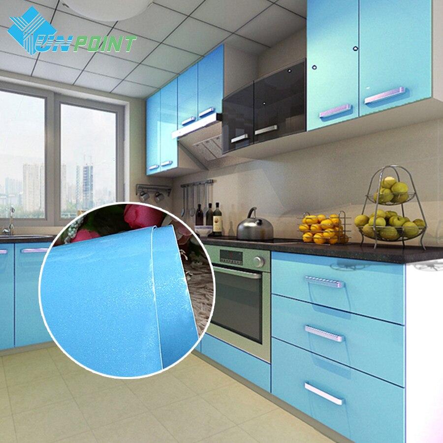 European Self adhensive Wallpaper Paint Flash PVC <font><b>Wall</b></font> paper Kitchen Cupboard Door Furniture DIY <font><b>Stickers</b></font> Vinyl Decorative Film