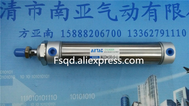 MA32*75-S-U MA32*80-S-U MA32*100-S-U AIRTAC Stainless steel mini-cylinder air cylinder pneumatic component air tools double acting pneumatic component stainless steel ma 16 100 air cylinder