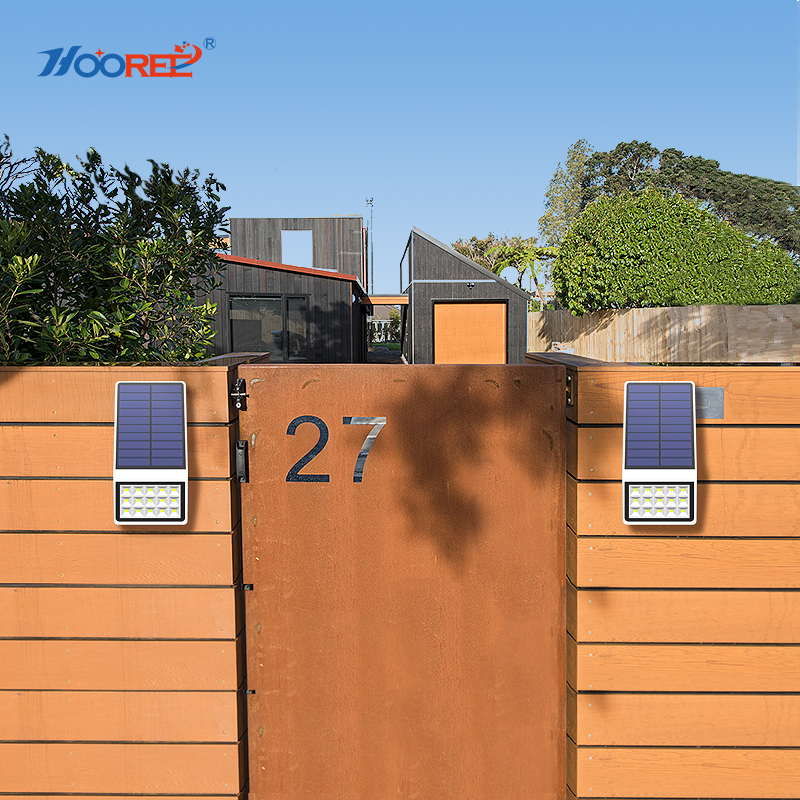 Hooree 3 in 1 solar led light motion sensor outdoor solar - Luz solar exterior ...