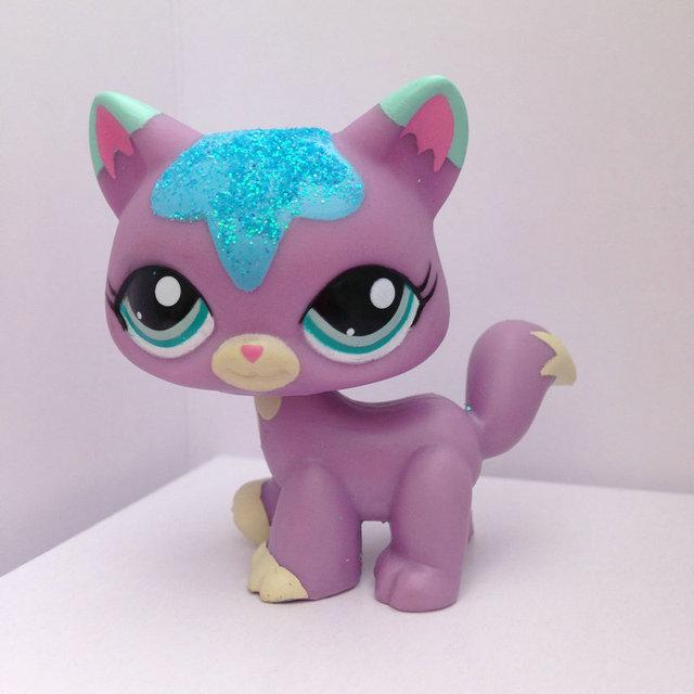 LITTLEST PET Animals Collection LPS Figure Girl Purple Cat