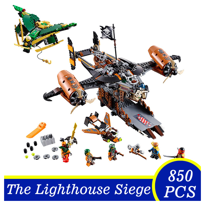 LEPIN 06028 850pcs Flying Pirate Marvel Ninja Building Block Figures DIY Assemble Active Model Brick Toys Kids Gift lepin 22001 pirate ship imperial warships model building block briks toys gift 1717pcs compatible legoed 10210