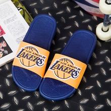 6c0f7966ea3e 2019 Fashion Mens Summer Slippers Los Angeles LA Lakers Houston Rockets  Fans Sports Slipper Men Outdoor