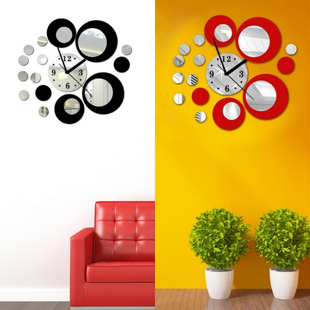 Wall Stickers On The Wall Modern Circles Acrylic Mirror Style Wall ...