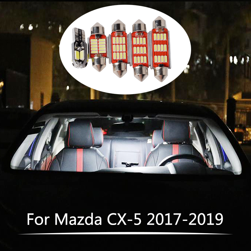 7Pcs For Mazda CX-<font><b>5</b></font> CX5 CX <font><b>5</b></font> <font><b>2017</b></font> 2018 2019 Canbus LED Lamp Car Bulbs Interior Package Kit3 Reading Trunk Lights image
