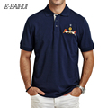 E-BAIHUI Brand Summer style Men's cotton polo shirts Casual tops tees Shirt Embroidered Polo Slim Polo Shirt Men Clothing P008