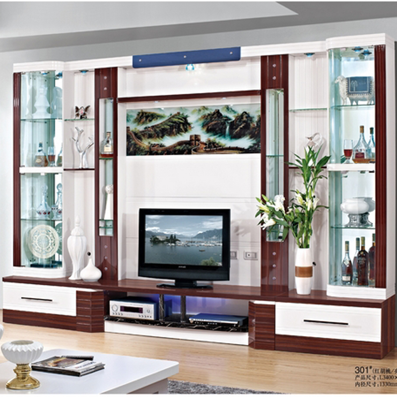 Charming Small Wine Cooler Modern Brief Fashion Glass Cabinet Office Display Cabinet  Audio System Tv Cabinet 3