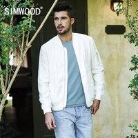 SIMWOOD Brand Casual Jacket 2019 Spring Bomber Jacket Men Windbreaker Fashion Casual Coats Slim fit Plus Size Outerwear 180033