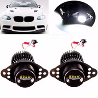 2Pcs High Quality 20W Car LED Angel Eyes Marker Halo Ring Light Bulb For BMW E90