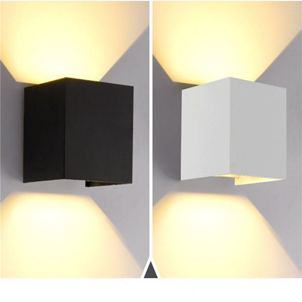 12W LED Wall Light Outdoor IP65 Waterproof Modern Nordic style Indoor Wall Lamps Living Room Porch Garden balcony Lamp AC85-265V