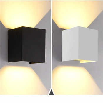 12W LED Wall Light Outdoor IP65 Waterproof Modern Nordic style Indoor Wall Lamps Living Room Porch Garden balcony Lamp AC85-265V - DISCOUNT ITEM  25% OFF All Category