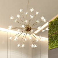 Luzes pingente moderno do vintage arte criativa flor de vidro prata pendurado lâmpada para restaurante sala estar quarto deco iluminação loft