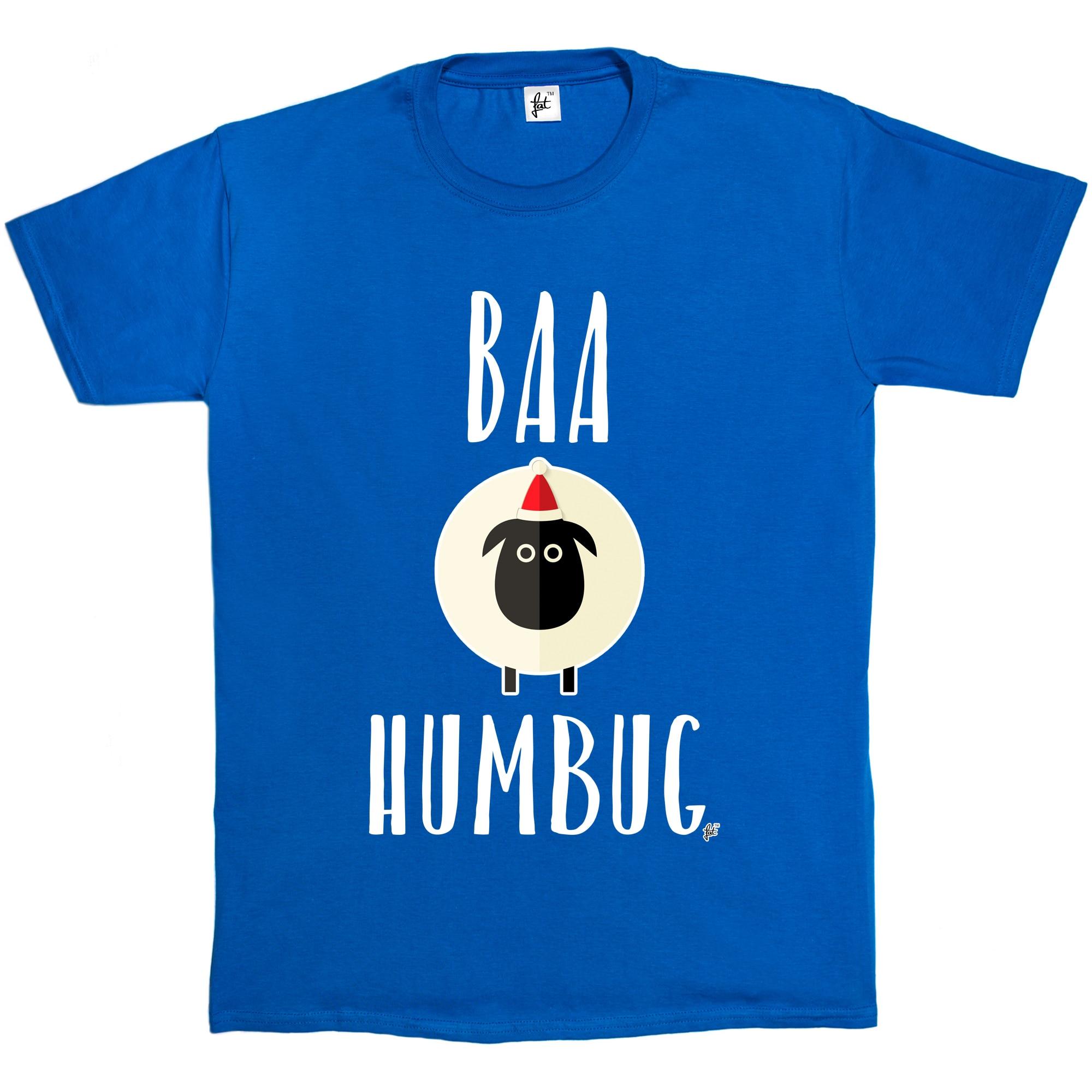 a007811f0e Baa Humbug White Sheep Bah Humbug Anti Christmas Mens T Shirt Men Tee Shirt  Tops Short Sleeve Cotton Fitness T Shirts-in T-Shirts from Men's Clothing  on ...