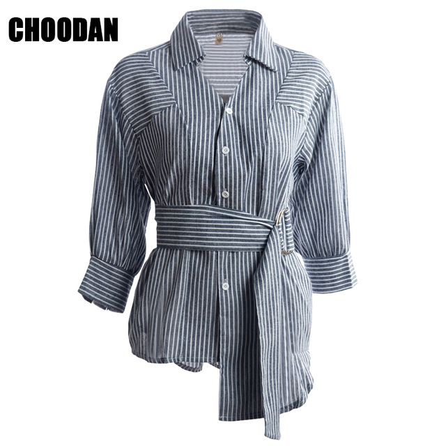 Aliexpress Com Buy Stylish Irregular Stripe Blouse Shirt Women