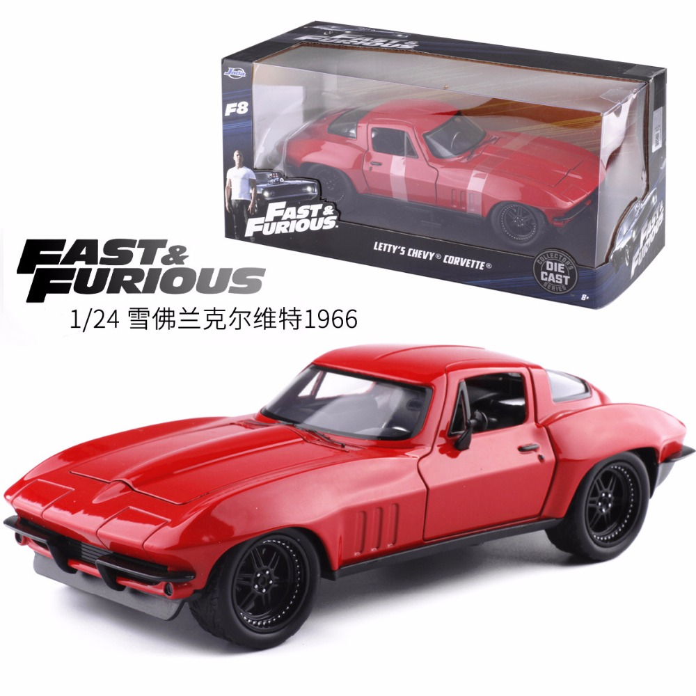 JADA 1:24 Advanced alloy car model high simulation Chevrolet Corvette 1966 metal castings toy vehicles collection kids toys cheverolet monza ixo chevrolet car 1 43 model