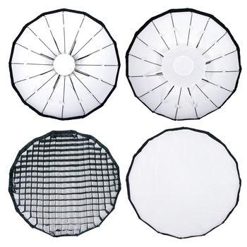 24 inch Folding Beauty Dish Cloth w/ Grid for Camera Flash Photography Photo Studio