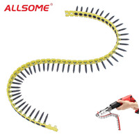 ALLSOME 20pcs Chain with 1000pcs Screws for Chain Nail Screw Adapter Woodworking Tool with Box HT2384
